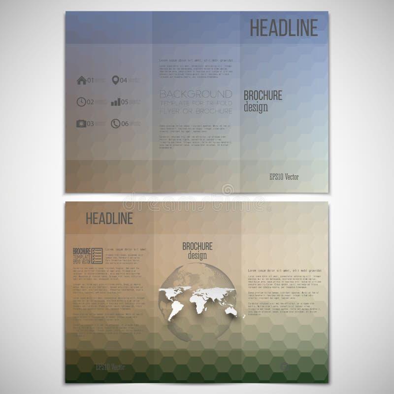 Комплект вектора trifold шаблона дизайна брошюры дальше бесплатная иллюстрация