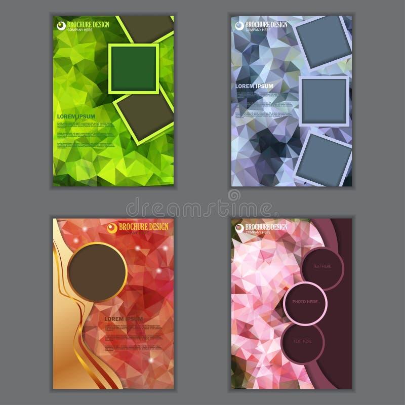 Комплект вертикального представления рогульки дела иллюстрация вектора
