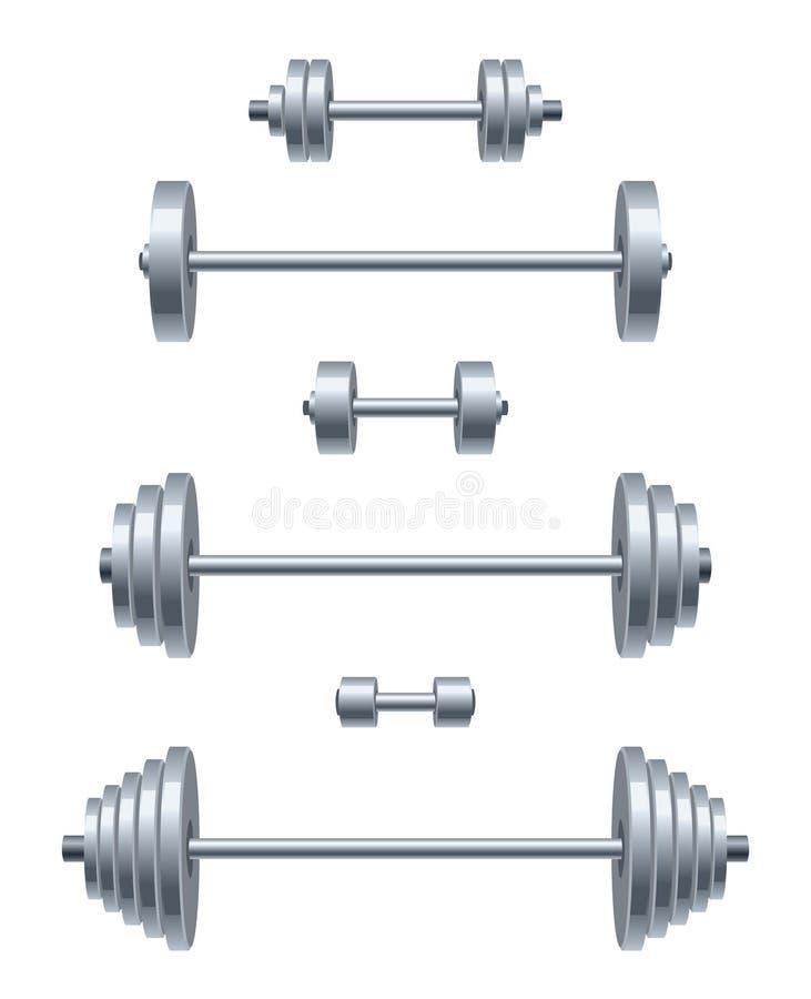 Комплект веса иллюстрация вектора