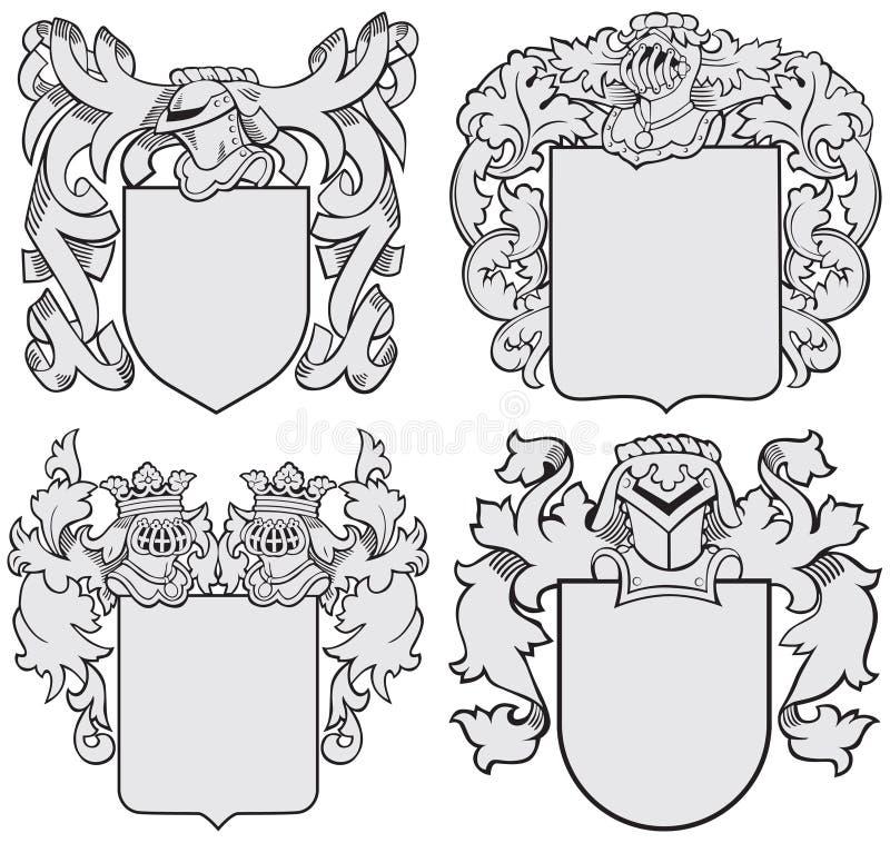 Комплект великородных эмблем No6 бесплатная иллюстрация