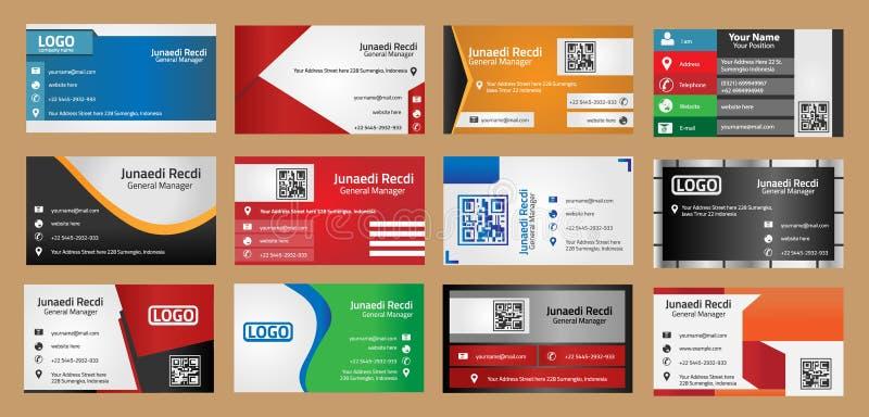 Комплект визитной карточки корпоративного бизнеса иллюстрация вектора