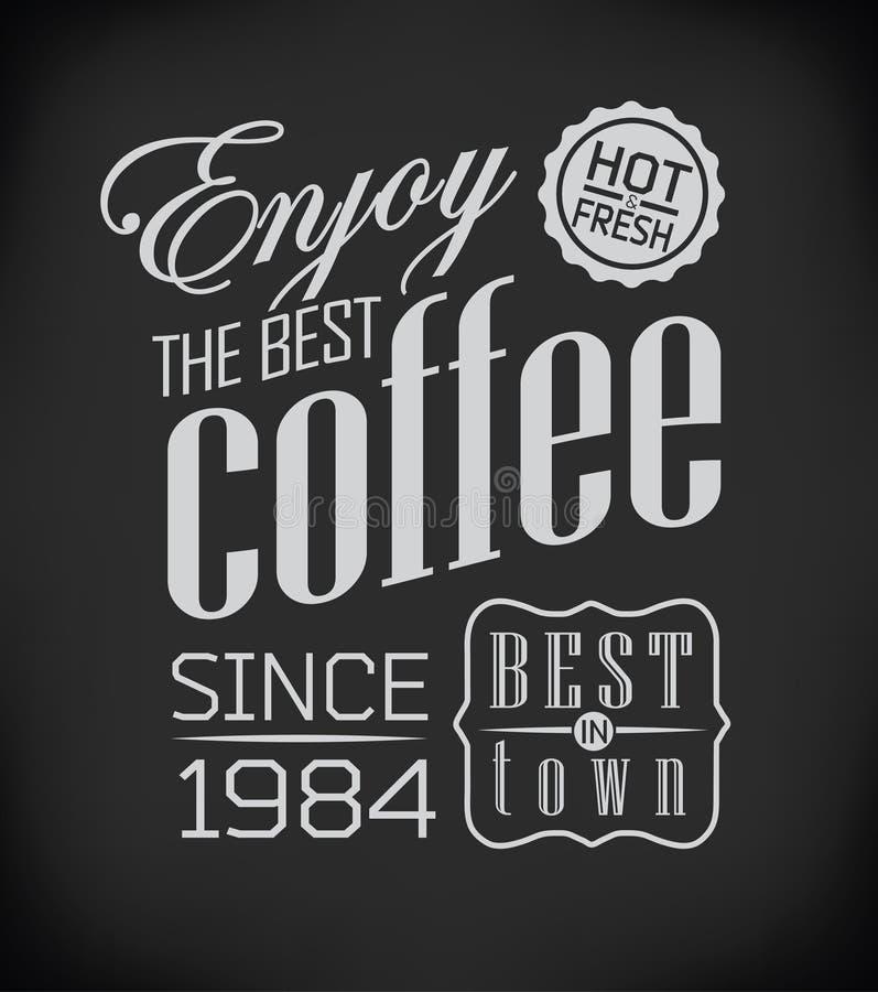Комплект винтажного ретро кофе иллюстрация штока
