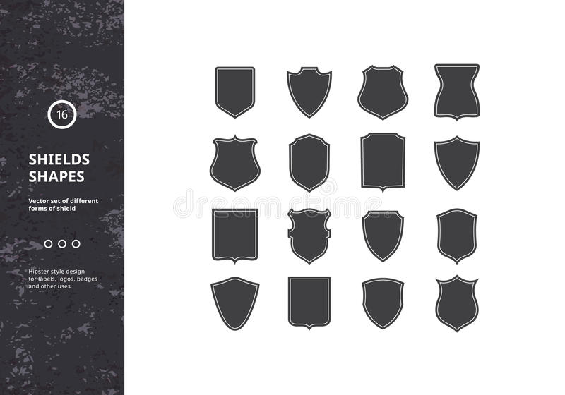 Комплект винтажных форм экрана иллюстрация вектора