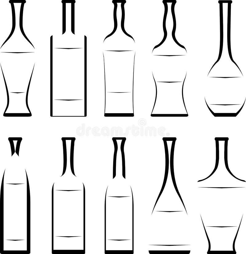 Комплект восковки бутылок иллюстрация штока