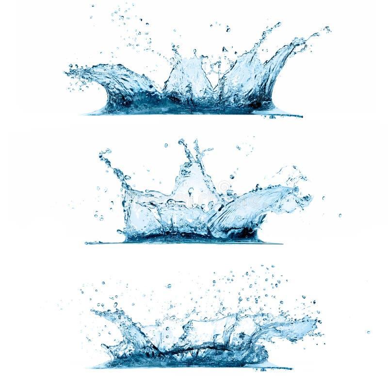 Комплект воды брызгает иллюстрация штока