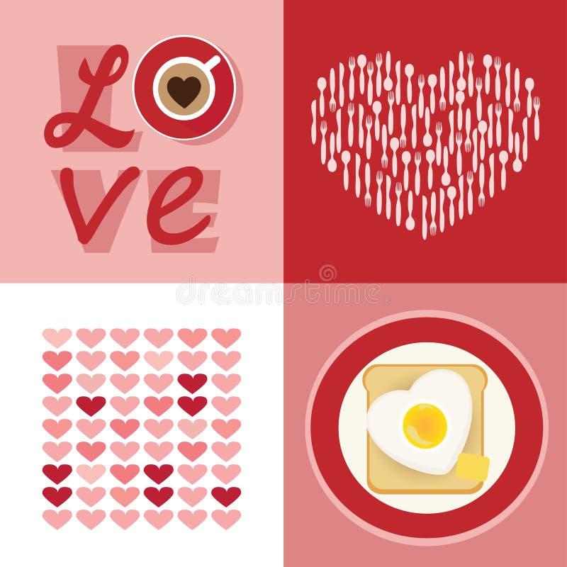 Комплект влюбленности иллюстрация вектора