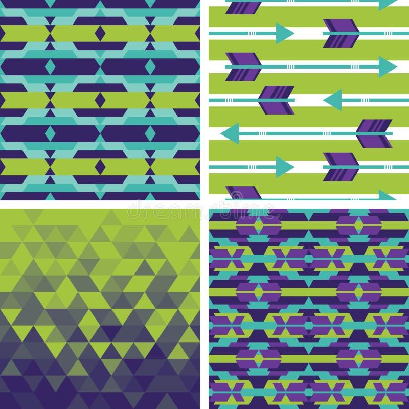Download Комплект геометрических и племенных предпосылок Иллюстрация вектора - иллюстрации насчитывающей bluets, элемент: 41654397