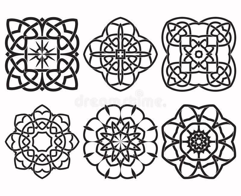 Комплект геометрических элементов дизайна узла иллюстрация штока