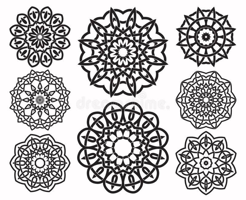 Комплект геометрических элементов дизайна узла иллюстрация вектора