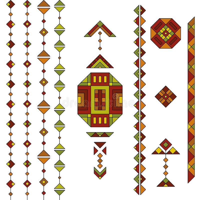 Комплект геометрических элементов бесплатная иллюстрация