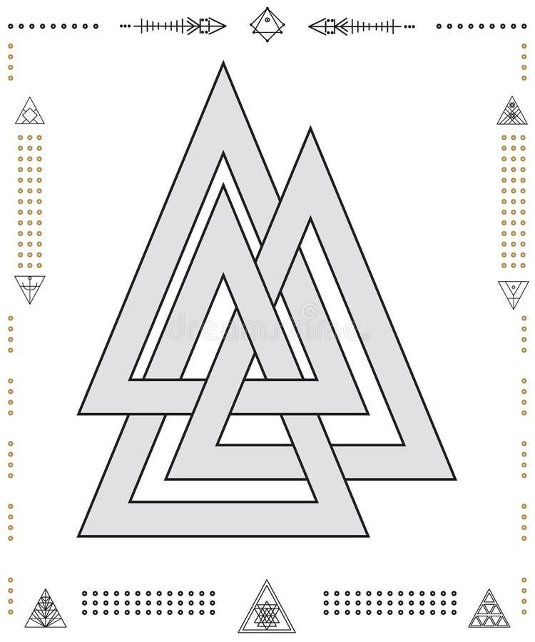 Комплект геометрического битника формирует 9znkl72211de бесплатная иллюстрация