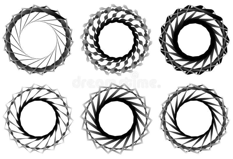 Download Комплект геометрического элемента 6 циркуляров Абстрактные формы геометрии Иллюстрация вектора - иллюстрации насчитывающей геометрическо, royalty: 81805486