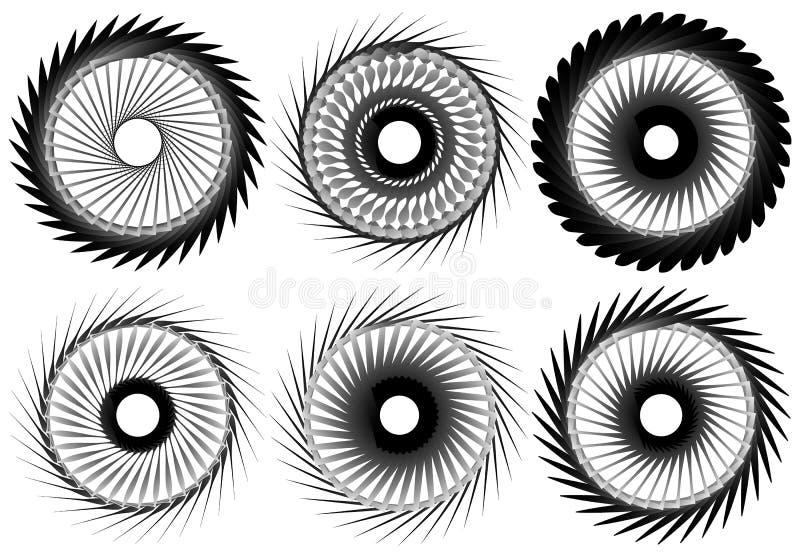 Download Комплект геометрического элемента 6 циркуляров Абстрактные формы геометрии Иллюстрация вектора - иллюстрации насчитывающей круг, форма: 81805493