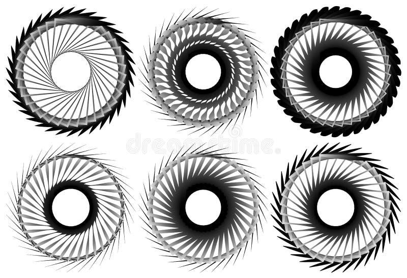 Download Комплект геометрического элемента 6 циркуляров Абстрактные формы геометрии Иллюстрация вектора - иллюстрации насчитывающей элемент, форма: 81805506