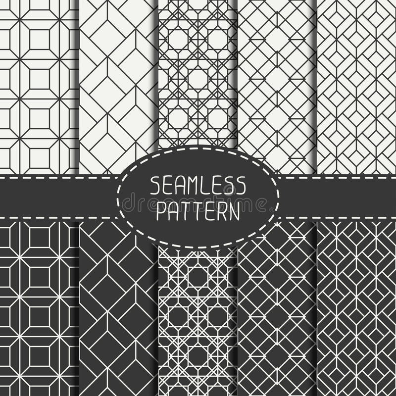 Комплект геометрической абстрактной безшовной картины куба стоковые фотографии rf