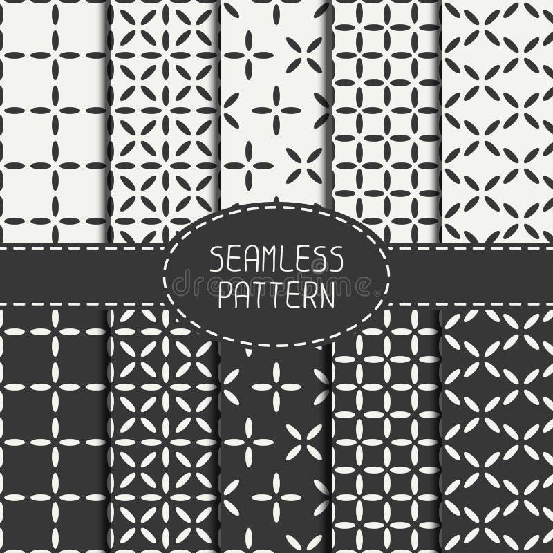 Комплект геометрической абстрактной безшовной картины куба бесплатная иллюстрация