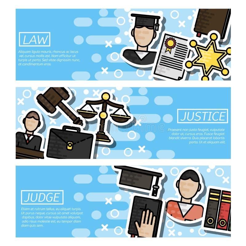 Комплект горизонтальной о законе бесплатная иллюстрация