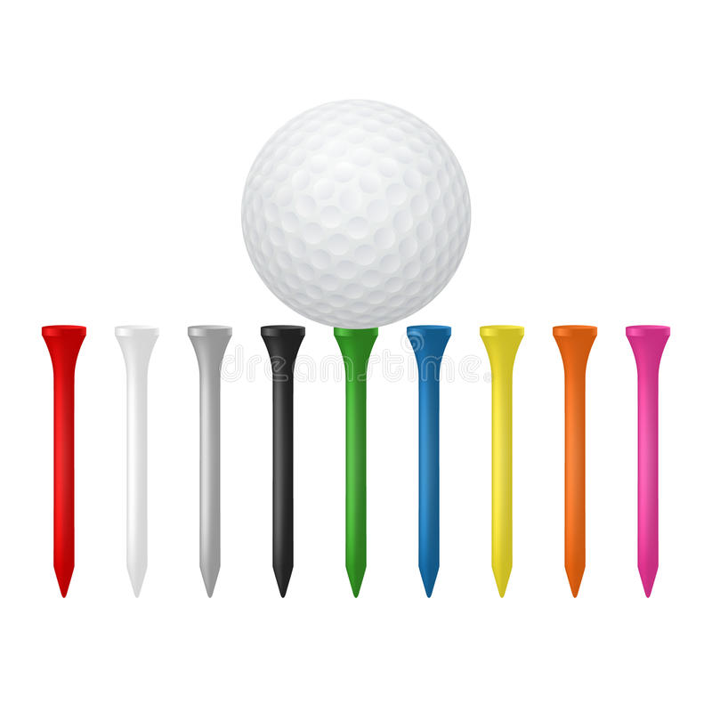 Комплект гольфа иллюстрация штока