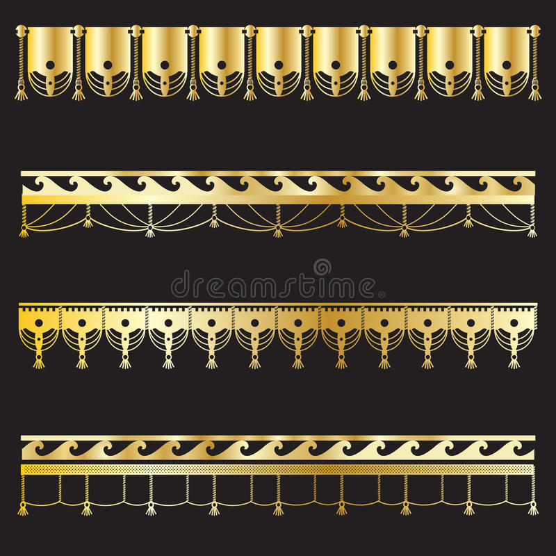 Комплект границ года сбора винограда золота бесплатная иллюстрация