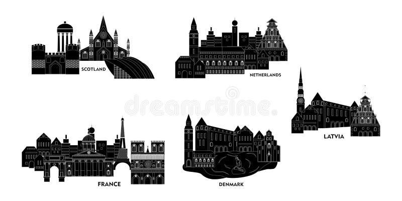 Комплект Европы иллюстрация штока