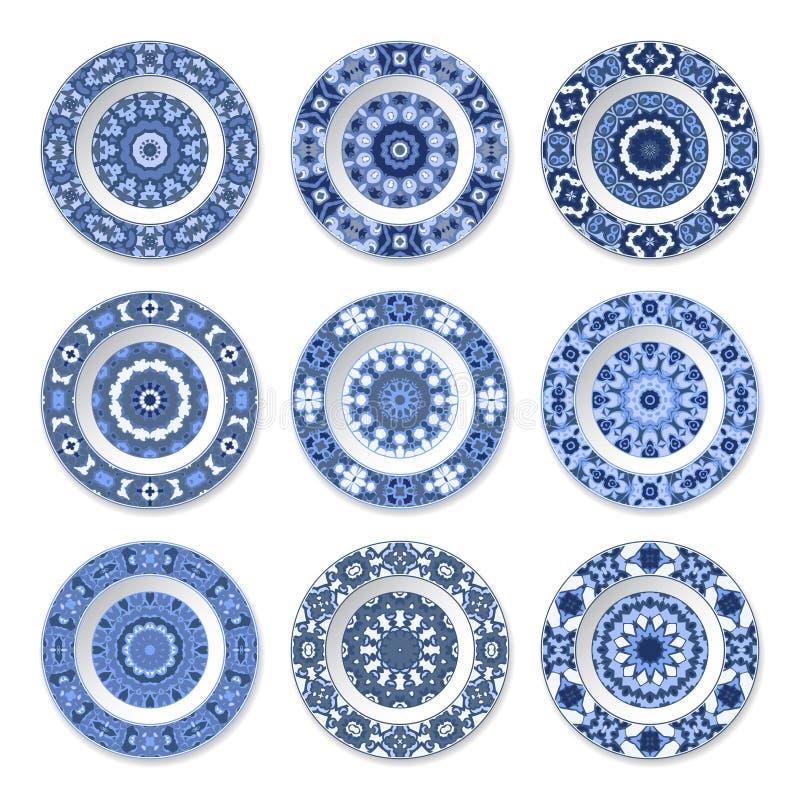 Комплект декоративных плит иллюстрация штока