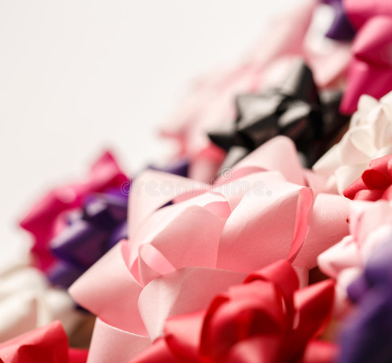 Комплект декоративных смычков стоковые фото