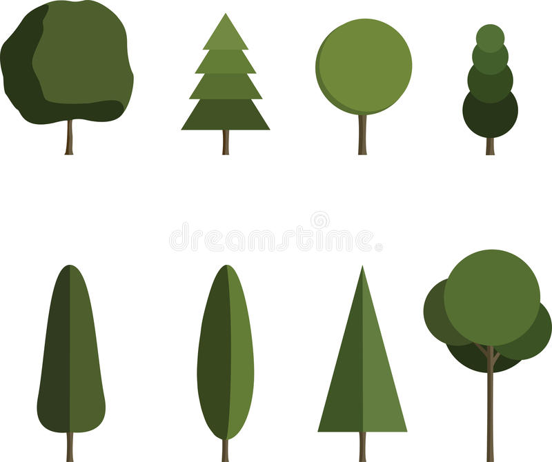 Комплект дерева стоковые фото