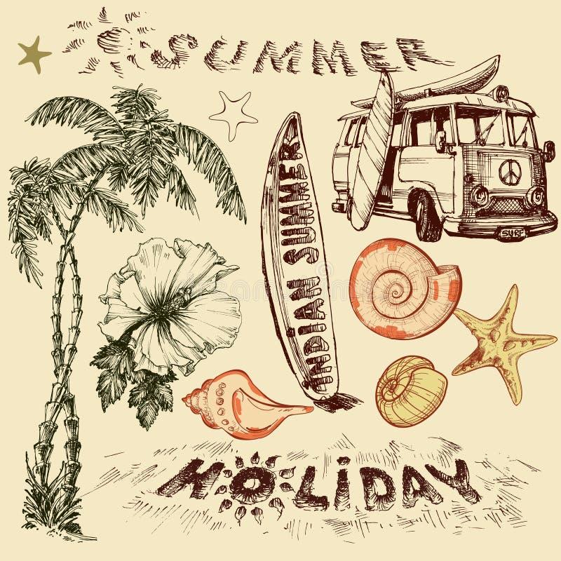 Комплект летнего отпуска бесплатная иллюстрация