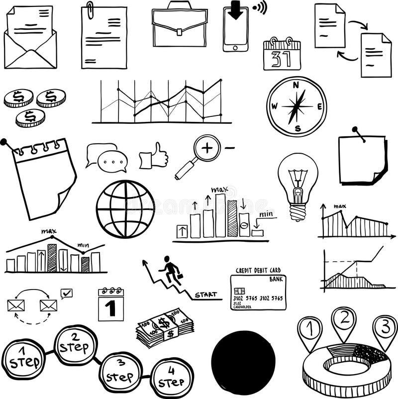 Комплект дела средств массовой информации вектора социального, финансов иллюстрация штока
