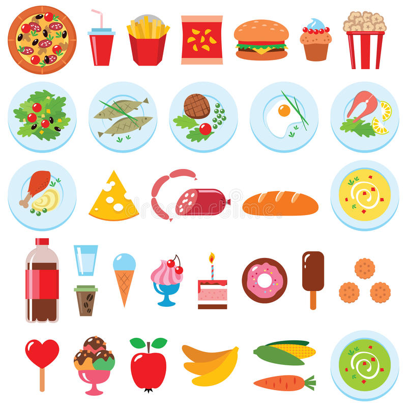 Комплект еды стоковое фото