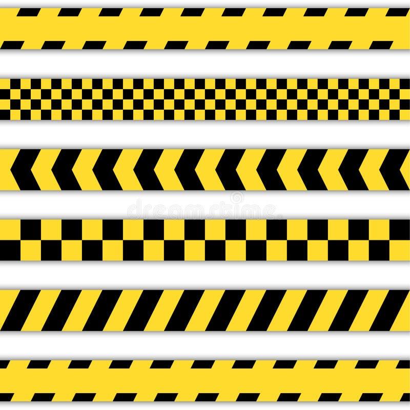 Комплект желтых лент барьера бесплатная иллюстрация