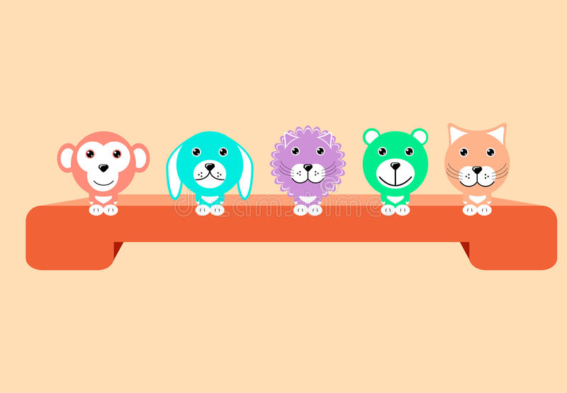 комплект животных милый стоковая фотография rf