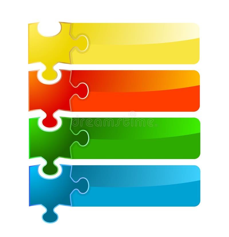 Комплект знамени головоломки бесплатная иллюстрация