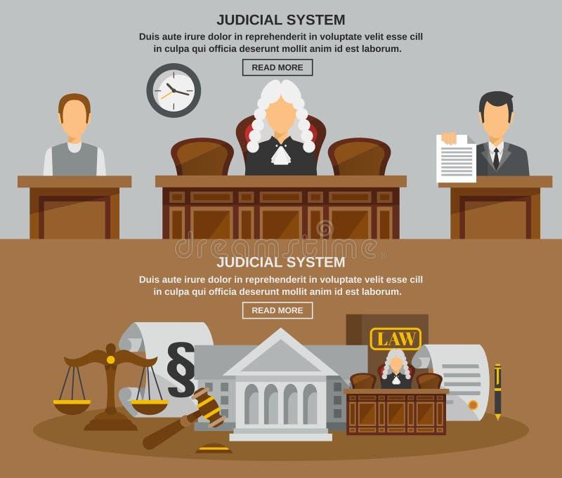 Комплект знамени закона бесплатная иллюстрация