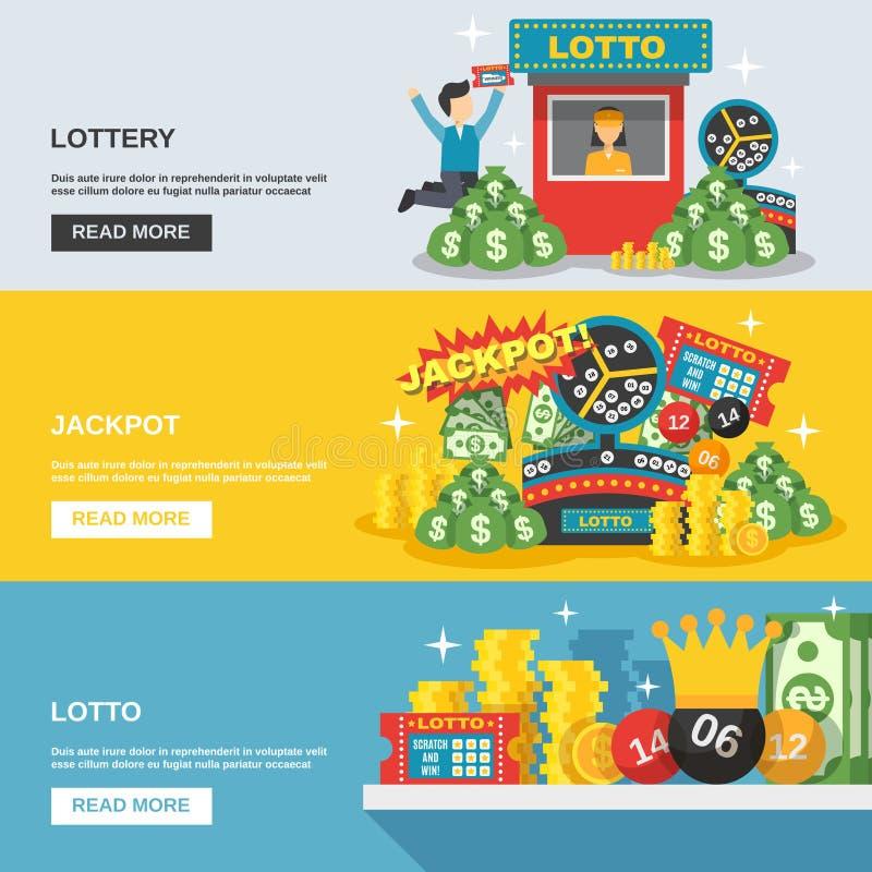 Комплект знамени лотереи бесплатная иллюстрация