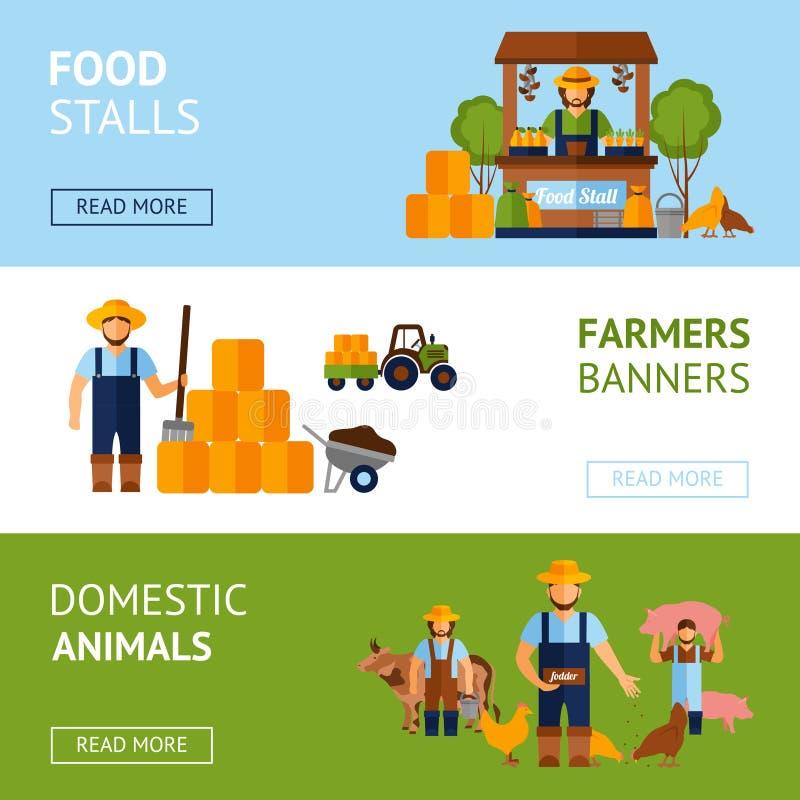 Комплект знамени фермеров бесплатная иллюстрация