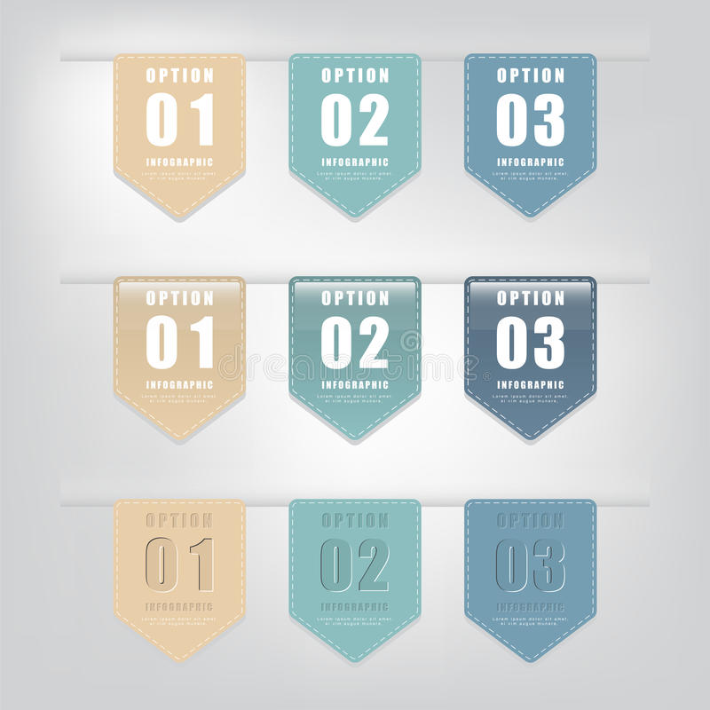 Комплект знамен или бирок номера современных стоковые изображения