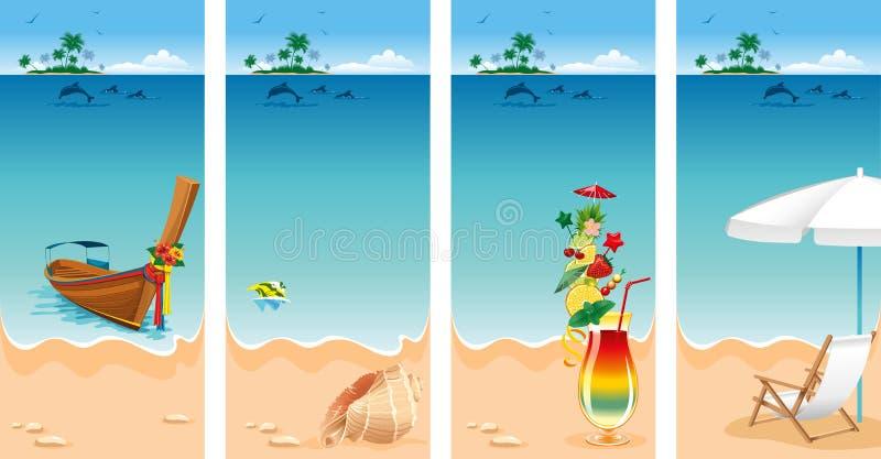 Комплект каникулы бесплатная иллюстрация