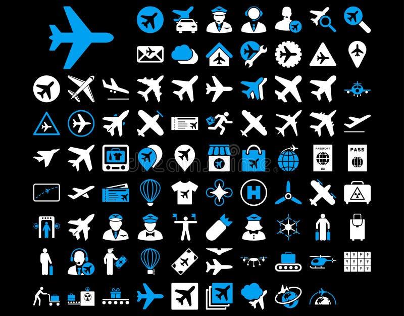 Комплект значка авиации иллюстрация штока