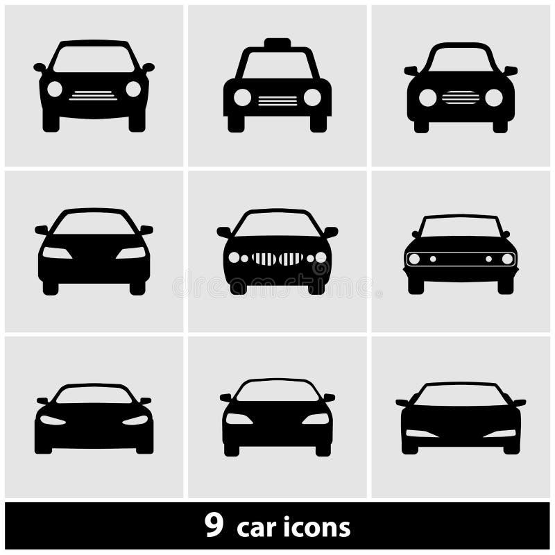 Комплект значка автомобиля иллюстрация вектора