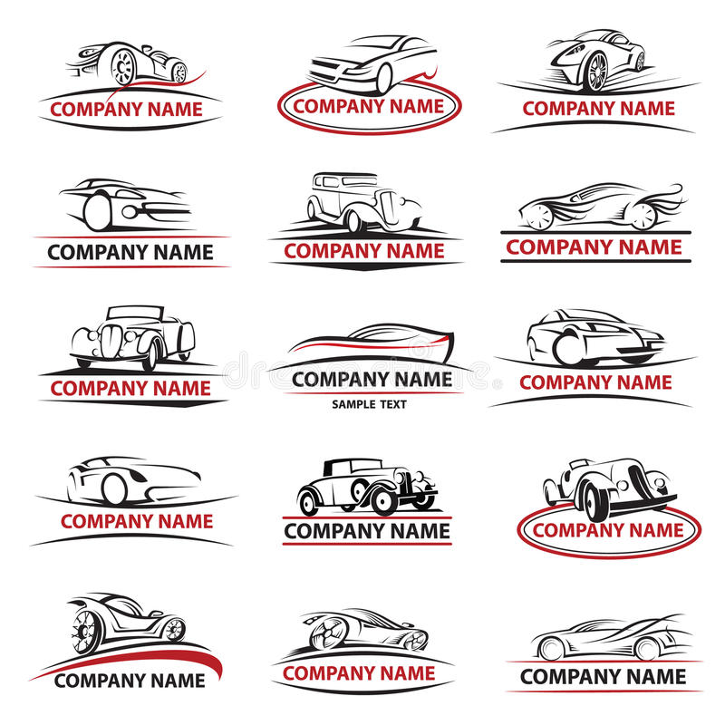 Комплект значка автомобиля бесплатная иллюстрация