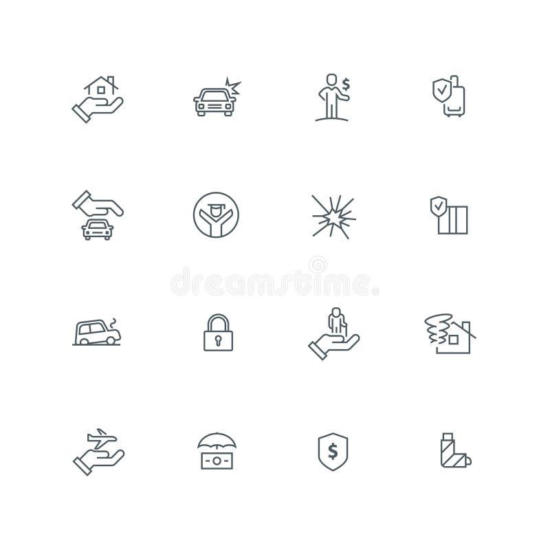 Комплект значка бизнес-линии иллюстрация вектора