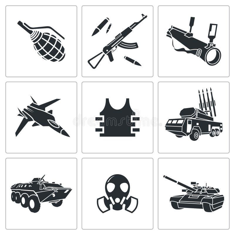Комплект значка вооружения иллюстрация штока