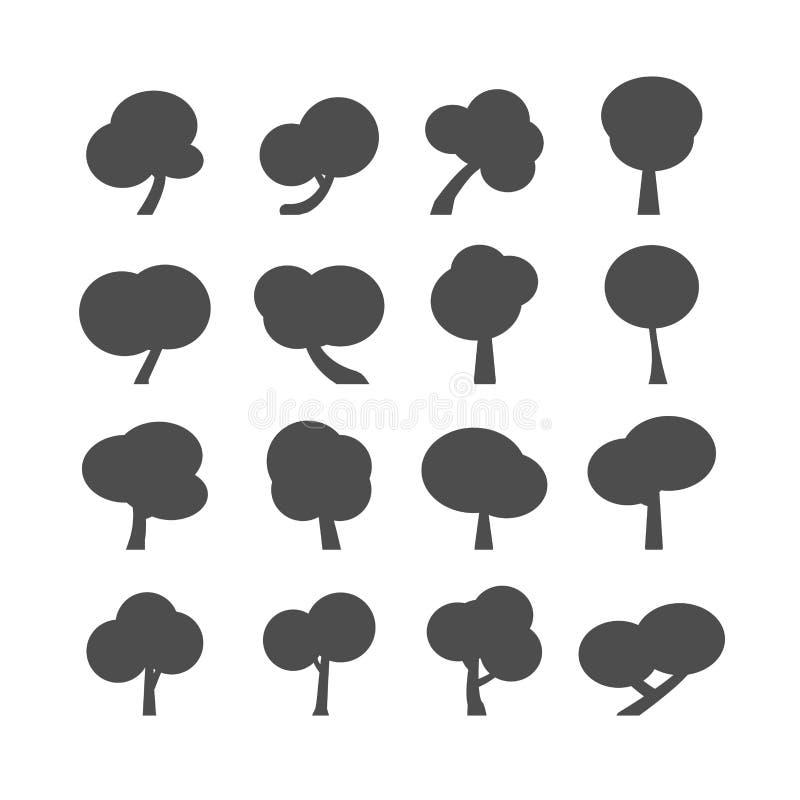 Комплект значка дерева, вектор eps10 бесплатная иллюстрация
