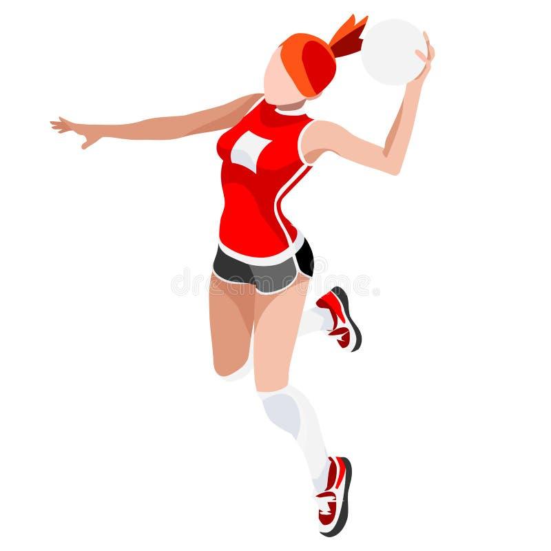 Комплект значка игр лета гандбола Спортсмен Олимпиад 3D равновеликий Конкуренция гандбола спортивного чемпионата международная Сп иллюстрация вектора