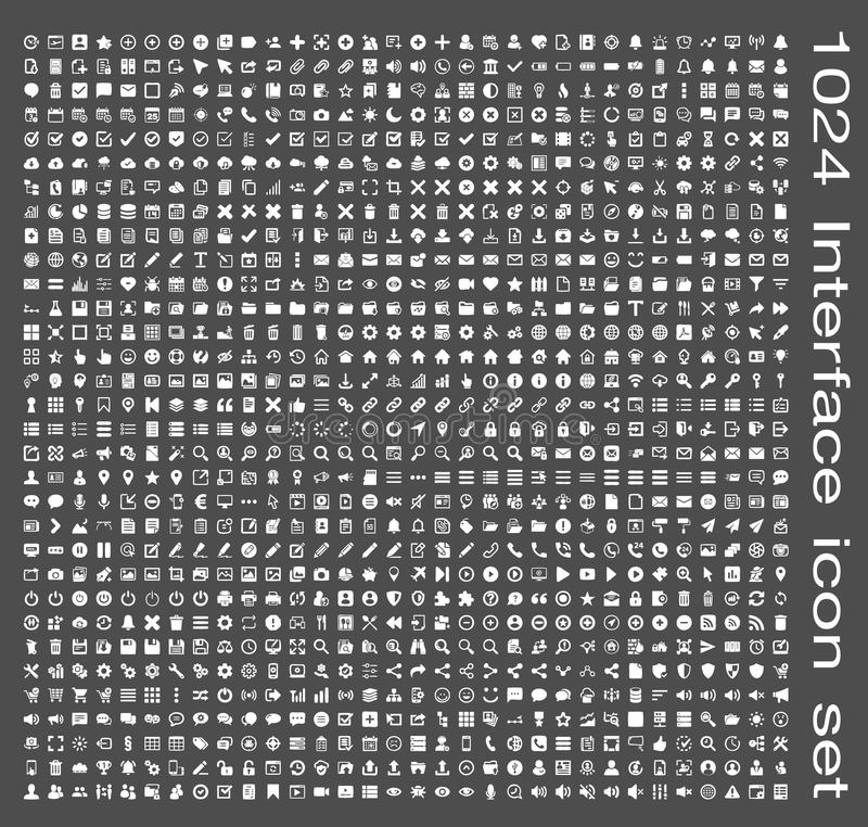 Комплект значка интерфейса иллюстрация вектора