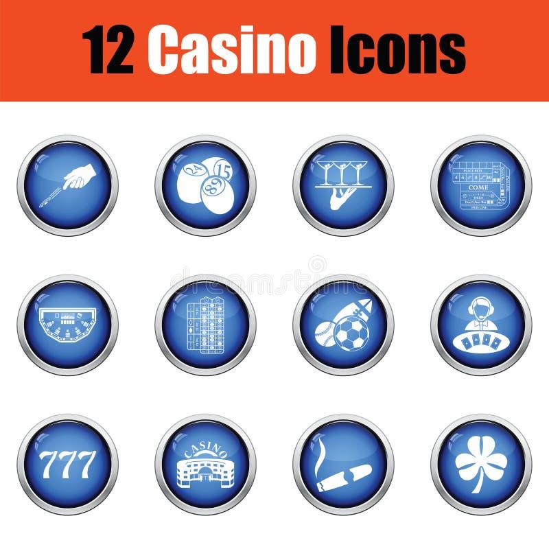 Комплект значка казино иллюстрация штока