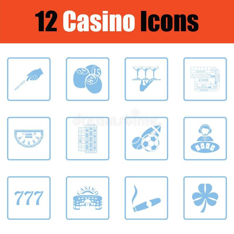 Комплект значка казино иллюстрация вектора