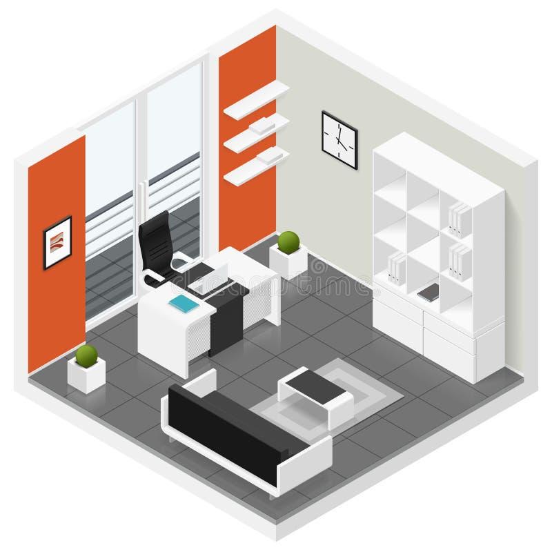 Комплект значка комнаты домашних офисов равновеликий бесплатная иллюстрация
