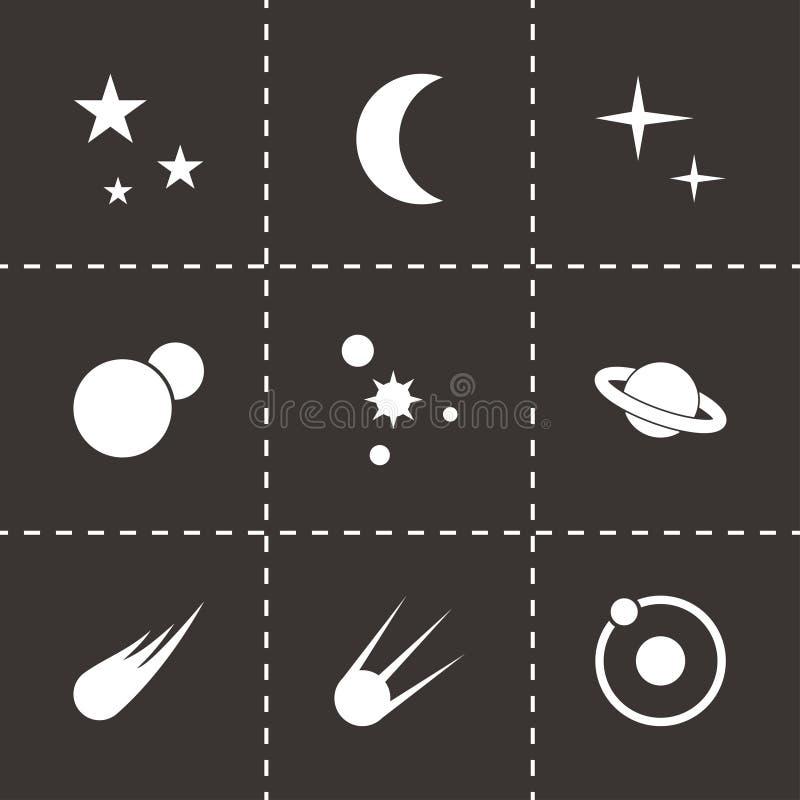 Комплект значка космоса вектора бесплатная иллюстрация